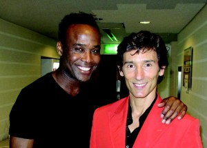 Producer and choreographer Steven Haynes and Portuguese choreographer Cesar Augusta Moniz