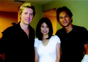 Actor Tsuyoshi Ihara, his wife Junko, and Clinto Eastwood's son, jazz musician Kyle, at the Blue Note
