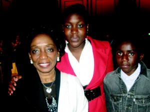 Cote d'Ivoire Ambassador Liliane Boad and her two kids Malika (16) and Jean Marc (14)