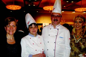 Croatia Minister Counselor Narcisa Becirev, master chefs Miroslav and Biserka Dolovcak, and Croatian singer Paula Jusic.
