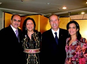 Walid Siam (Palestine), outgoing Moroccan Amb. and Mrs. Lecheheb., and the lovely Maali.