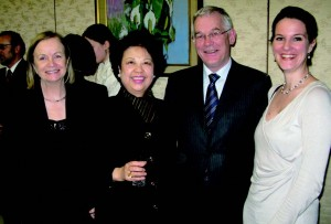 Margaret Scannell, Kazuko (Kay) Siazon (Philippines), Irish Ambassador Brendan Scannell, and Hamburg Ballet Press Director Anna Schwan.
