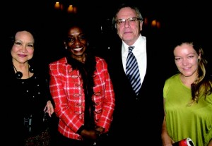 Dja Dja Carriedo (Spain), Cote d'Ivoire Amb. Liliane Marie Laure, South African Ambassador Gert J. Grobler, and his niece Claire.