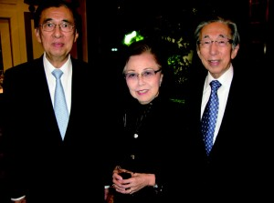 Philippines Ambassador Domingo Siazon, Jr., Seiko Watch chairman Reijiro Hattori, and his wife Etsuko.
