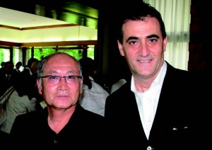 Segafredo president and managing director of Asia- Pacific, Mitsuru Sakuraba with noted caterer Giorgio Matera