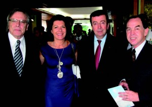 South African Ambassador Gert J. Grobler, French Ambassador Philippe Faure and his wife Christine, and Swiss Ambassador Paul Fivat