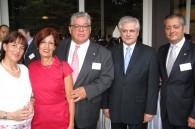 Señora Mendenez, Maria Muñoz Castro, Costa Rican Ambassador Mario Fernandez Silva, Brazilian Ambassador Luiz Augosto de Castro Neves and Guatemalan Ambassador Byron Escobedo Mendenez