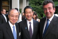 Politician Shintaro Ito and French Ambassador Philippe Faure