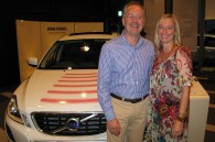 Volvo Japan CEO Richard Snijders and his wife Suzanne