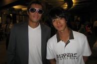Aspiring actor Hide and K1 champion Takayuki Kohirumaki