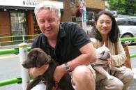 Iain and Yoko Muir of Yoyogi International School and their friends Hoku and Pancho