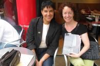 Interior designer Nancy Katsura and writer Kate Klippensteen