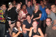 The cast of Chicago at the New Lex for former Backstreet Boy Kevin Richardson's birthday party