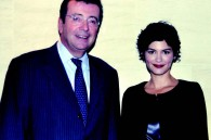 French Ambassador Philippe Faure and French actress Audrey Tautou