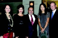 Charo Ireton, Audrey Tautou, Warner Brothers' Bill Ireton, Chanel Japan president Richard Collasse and his wife Naoko