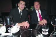 Grand Hyatt Tokyo GM Christophe Lorvo and David Hatt of Deutsche Bank