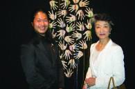 Ceramic artist Gentaro Yokoyama and Mori Art Museum president Yoshiko Mori