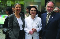 Legendary fashion designer Hanae Mori with Austrian Ambassador Jutta Stefan-Bastl and her husband Peter Stefan