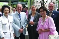 Former Imperial Hotel GM and Mrs. Ichiro Inamura, Jutta Stefan-Bastl and Jean Ariyoshi