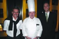 BMW's Mario Theissen, Grand Hyatt executive chef Josef Budde, and BMW Japan president Richard Krueger
