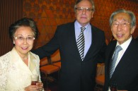 Former Prime Minister and Mrs. Tsutomu Hata with Moroccan Ambassador and Mrs. Samir Arrour