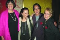 Kreab Gavin Anderson, Deborah Hayden, Financial Times correspondent Gwen Robinson, and Kaz and Fran Kuzui