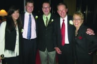 Event planner Mary Corbett, film directors Jeff Reece, Brian Comerford and Gary Reece, and Fran Kuzui