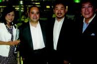 Itsumi Sano, Warner Bros' Bill Ireton, Paramount Pictures' Ichiron Okazaki, and Sony Entertainment's Dick Sano