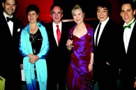 Pianist Jose Luis Altamirano, Mexican Ambassador Miguel and Señora Ruiz Cabanas, actress and singer Yumiko Kokunoe, her husband singer Hiroshi Kato and Mexican cultural attache Alejandro Basanez