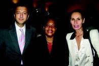 Panorama Hospitality's Xavier Destribats, Jamaican Ambassador Claudia Barnes and Tatiana Destribats