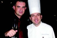 Diageo Moet Hennessy channel manager Roberto Barbieri and Four Seasons executive sous chef Leonardo Oi Clemente