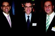 Four Seasons staff David Macklion (Chinzan-so hotel), Chris Hart (Asia Pacific senior VP of operations) and Michael D. Branham (Marunouchi hotel GM)