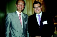 Swiss Airlines Japan GM Noboru Okabe and Thomas Citterio of the Four Seasons Florence