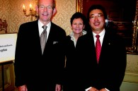 Four Seasons staff Jim Fitz-Gibbon (president, worldwide hotel operations), Susan Devine (VP or marketing, Asia Pacific) and Hiro Kobayashi (director of sales, Japan and Korea)