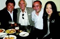 Tajomaru director Mataichiro Yamamoto, Bill Hersey, Warner Bros. Japan president Bill Ireton and actree Yuki Shibamoto