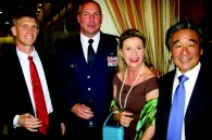 US Lt. Col. Joe Sweeney, US Lt. Col. Jim F. Klingmeyer, and Mary and Kimikazu Aida
