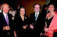 Shigejiro and Fumiko Tottori, Argentinean Ambassador Daniel Dziewezo Polski and Martha Ruiz Cabanas