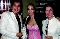 Colombian Ambassador Patricia Cardenas, Argentine tango dancer Mora Godoy and Daniele Yoshikoshi