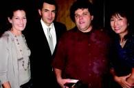 Grand Hyatt GM Christophe Lorvo, his wife Alicia, tango singer Alfredo Casero and Mary Katayama