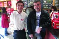 Segafredo staff member Daisuke Noguchi and Italian chef Andrea Cozzolino