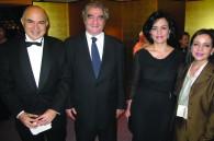 Egyptian Ambassador Walid Abdelnasser, Algerian Ambassador Sid Ali Ketrandji, Dahlia Abdelnasser, and Amal Ketrandji