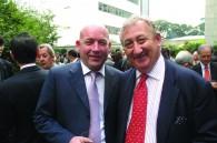 Hobgoblin president Mark Spencer and international wine guru Ron Brown