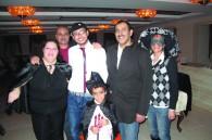 Omani Ambassador Khalid Al-Muslahi, his wife Abeer, Palestinian Amassador Waleed Siam, his wife Maali, and their son Kareem
