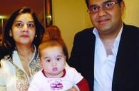 Diya restaurant owner Vivek Kothari, his wife Preeti, and their son Shivaan