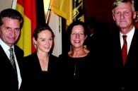 Minister President of Baden Wurttenberg and Mrs. Gunther H. Oettinger and German Ambassador and Mrs. Hans Joachim Daerr