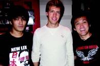 Chef Katsuhiko Higa, German F1 driver Sebastian Vette (winner of Japan race), and New Lex manager Masuda-san