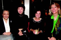 Fumiko Tottori, Emiko Anzai (sister of HIM Empress Michiko), Chantal Behncke and Benedict Ann Comberbach