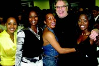 South African Ambassador Gert Grobler and cast members of Umoja