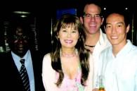 Fox executives Dan Smith, Warren Platt, and Joon Lee with Kyoko Spector