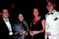 Shochiku president Jay Sakamoto, Daniele Yoshikoshi, wife of the French ambassador Christine Faure, and Koichiro Yoshikoshi